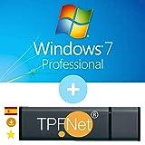 MS Windows 7 Pro 32 Bits y 64 Bits - Clave de Licencia Original con Memoria USB de Arranque de - TPFNet