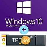 MS Windows 10 Pro 32 Bits y 64 Bits - Clave de Licencia Original con Memoria USB de Arranque de - TPFNet