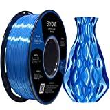 Filamento de PLA seda de ERYONE para impresora 3D, 1,75 mm, tolerancia: ± 0,03 mm, 1 kg (2,2 libras) / carrete, Azul