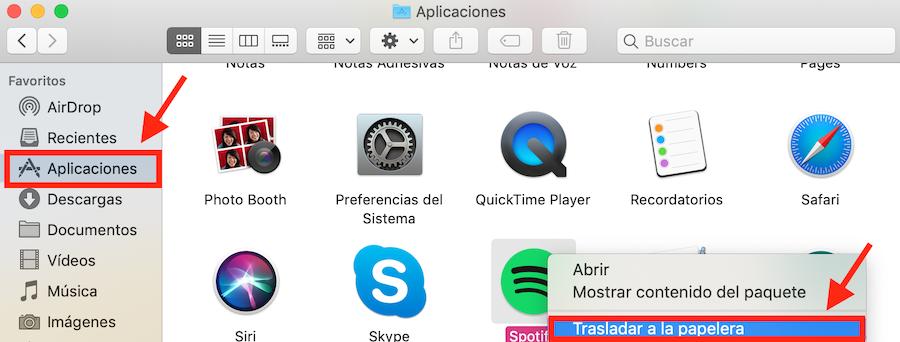 desinstalar apps en mac