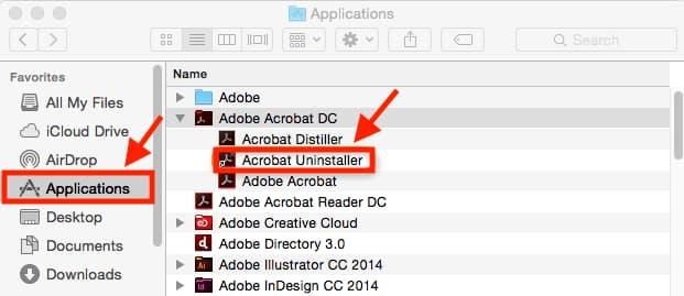 borrar programas mac