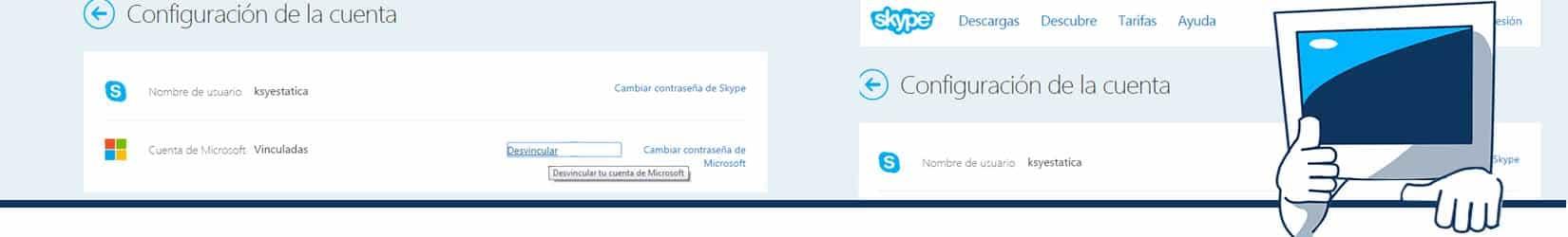 dar de baja skype