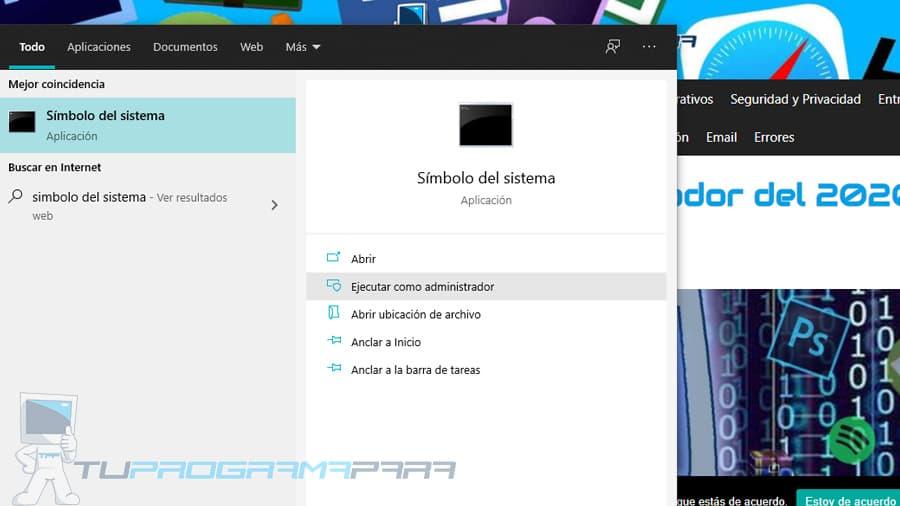 modo hibernación windows 10